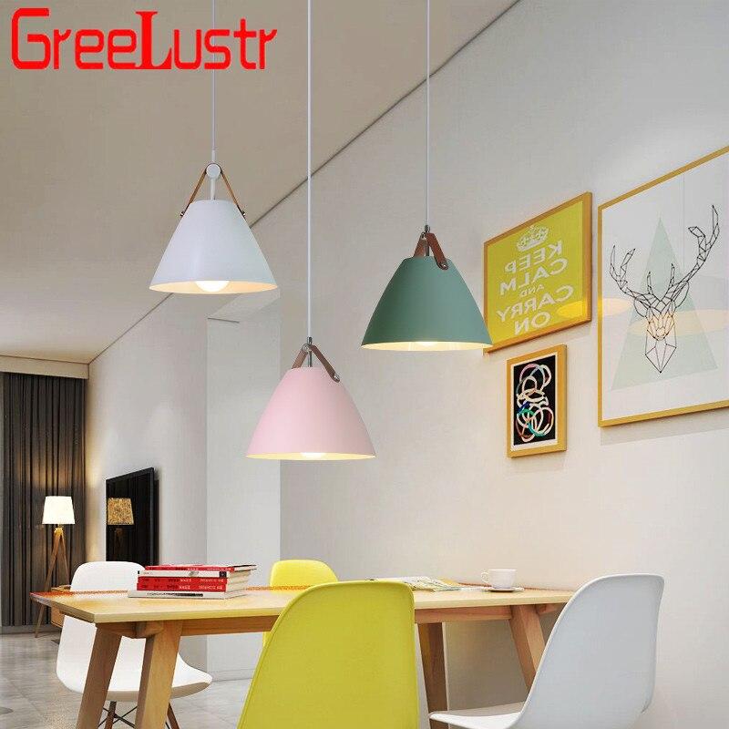 Nordic Restaurant LED Chandeliers Pendant Lamp E27 Loft Lustre Hanglamp Indoor Dinning Room Home Lighting Lamparas  AC110-220V