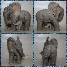 Free shipping Mom and Baby Elephant Figures Resin toy vivid lifelike cute pet animal cake home office car decoration party gifts