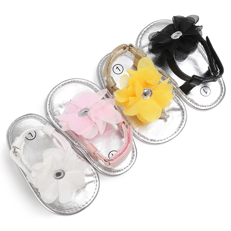 2020 Baby Shoes Baby First Walkers Fashion Flat With Flower Non-slip Shoes For Baby Girls