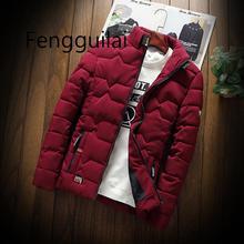 2019 осень зима новая куртка модный тренд повседневная утолщенная теплая ватная мужская одежда строй