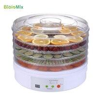 Máquina Desidratador Desidratador de alimentos Digital com Timer Display LED Profissional Secador de Alimentos Vegetais 5 Removível Bandejas BPA Livre-