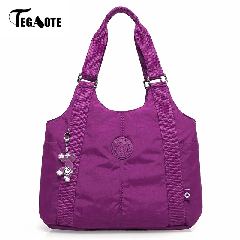 Female Purse Bolsa Top-Handle-Bag Beach-Bag Casual Tote Shoulder Nylon Feminia Famous-Brand