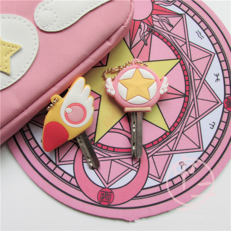 Anime Card Captor SAKURA Keychain Cosplay Cute Pendant Keyring Key chain