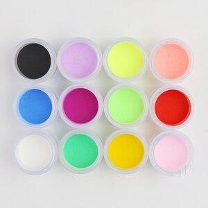 Image 5 - 12 colori Acrilici In Polvere Unghie Artistiche Poudre Acrylique Colorato Acrilico Monomero Acrylverf Nagels Polvos Acrilicos Ongles Set