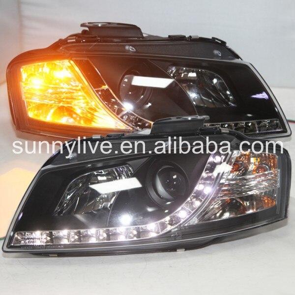 Светодиодный головной свет с объектив проектора для Ауди A3 2003-2007 Год оригинальный автомобиль с галогеновыми стандарт