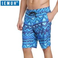 IEMUH Board Shorts Men Quick Dry Swimwear Men Sweat Board Shorts Gmy Running Shorts Surfing Beach Short Joggers Beachwear Sports
