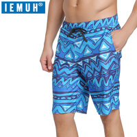 IEMUH Board Shorts Men Quick Dry Swimwear Men Sweat Board Shorts Gmy Running Shorts Surfing Beach Short Joggers Beachwear Sports