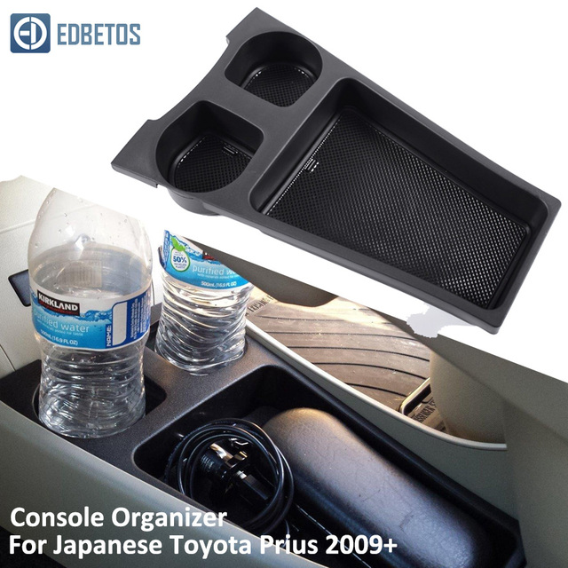 EDBETOS Prius Armrest Storage Box for Toyota Prius Cup Holder Central Console Organzier Stowing Tidying Storage 2009-2018 2019