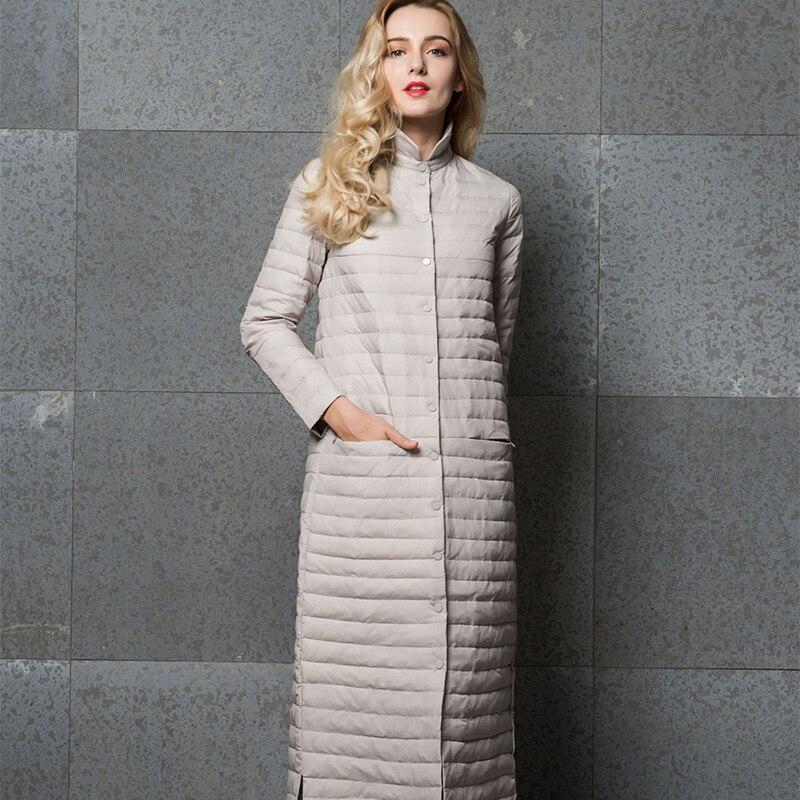 5ded4a815812a Winter down coat female coat 2018 ultra light down jacket women long down  jackets women white duck womens down jacket