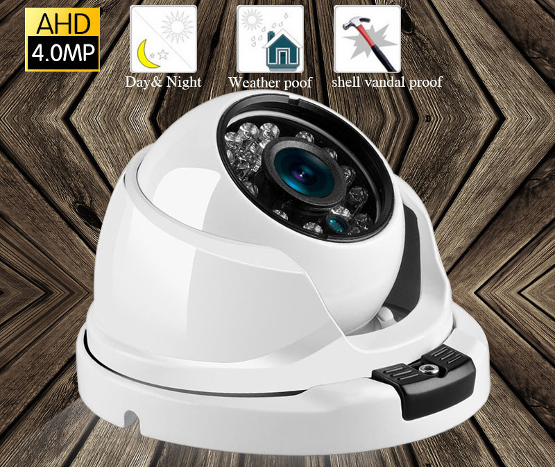 HD AHD 4MP Camera Wide Angle 2.8mm Optional Metal Dome Vandal-proof CCTV Camera Surveillance Security 24 Array IRHD AHD 4MP Camera Wide Angle 2.8mm Optional Metal Dome Vandal-proof CCTV Camera Surveillance Security 24 Array IR