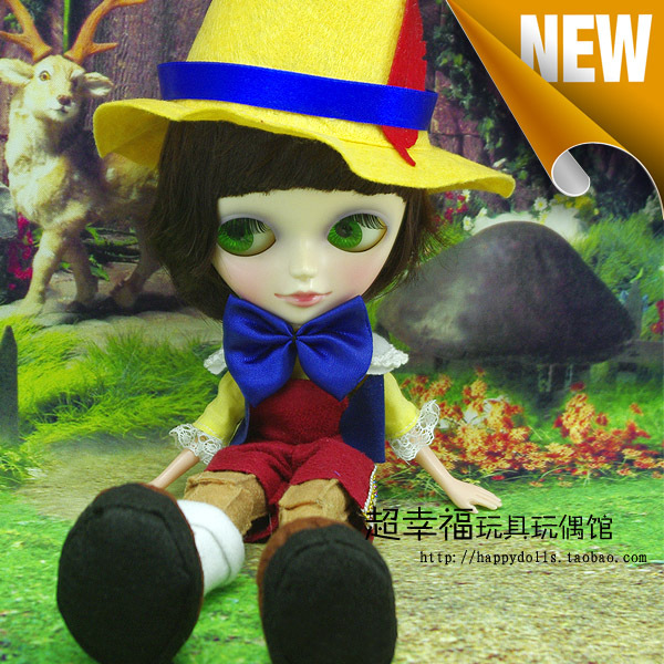 ФОТО 9inch Super cute dress up TANGKOU doll Big Head and big eyes Pinocchio doll Can makeup doll Toys for girls