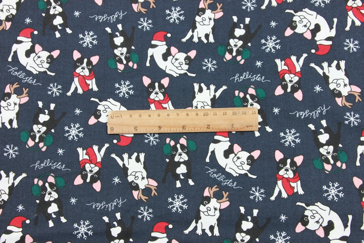 half meter twill brushed cartoon dog print fabric handmade DIY garment dress children cloth 100 cotton T548 in Fabric from Home Garden
