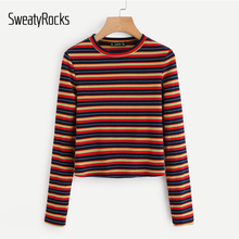 Striped Fit Long Sleeve Top PU27