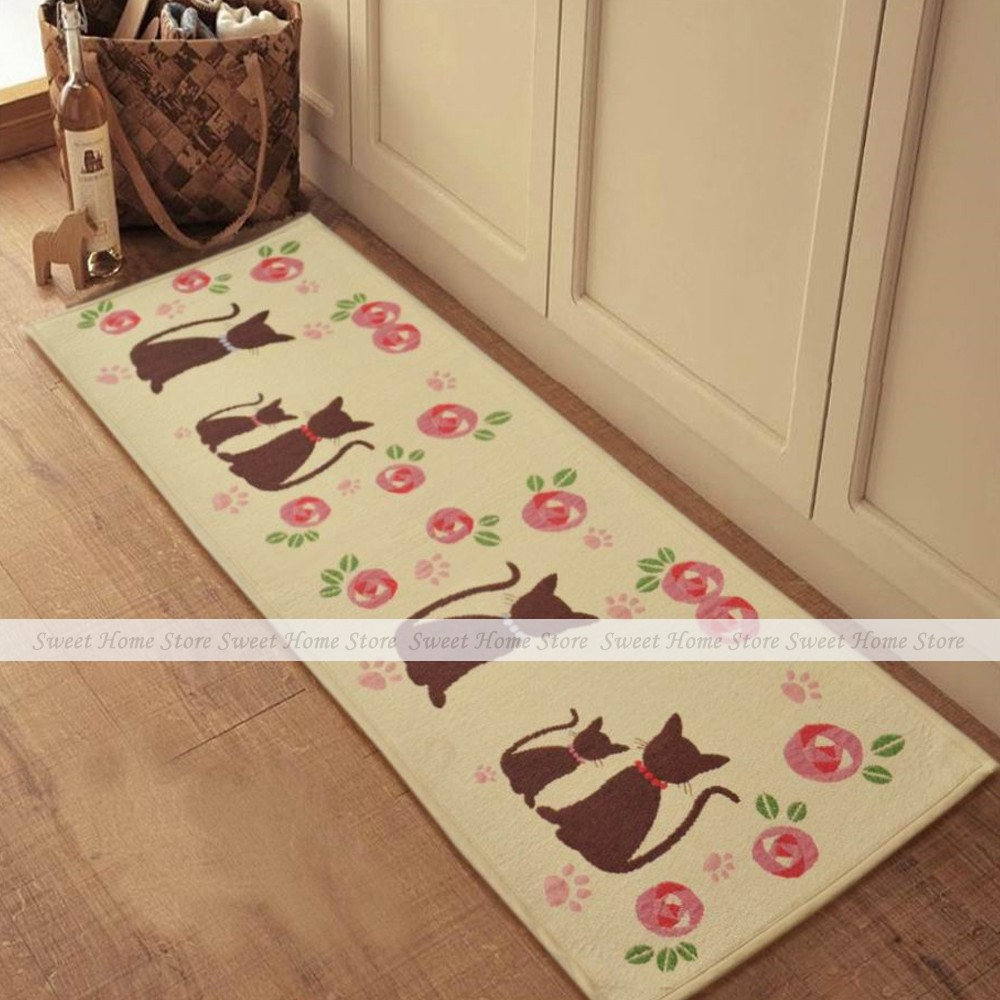 Cartoon Cats Extra Long Bedroom Floor Door Bath Rug Hallway Kitchen Runner  Mat 210x50cm China. Compare Prices on Extra Long Bath Mats  Online Shopping Buy Low