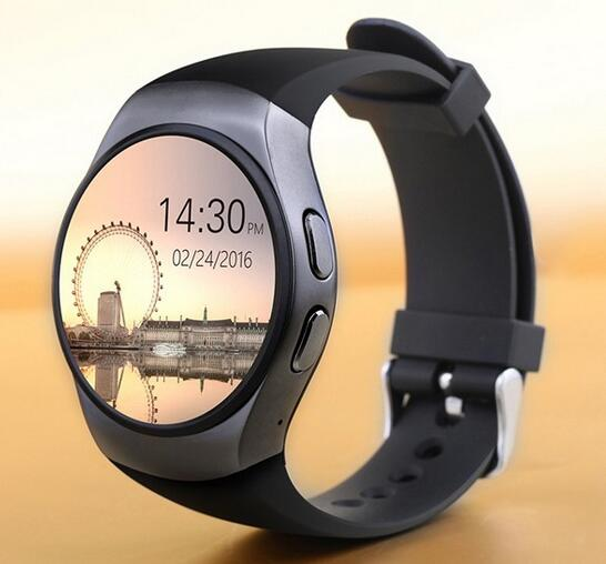2017 KW18 Bluetooth Smart Watch Heart Rate Monitor Support Sim card watch <font><b>phone</b></font> 1.3 inch <font><b>AMOLED</b></font> Round Screen 2G For IOS Android