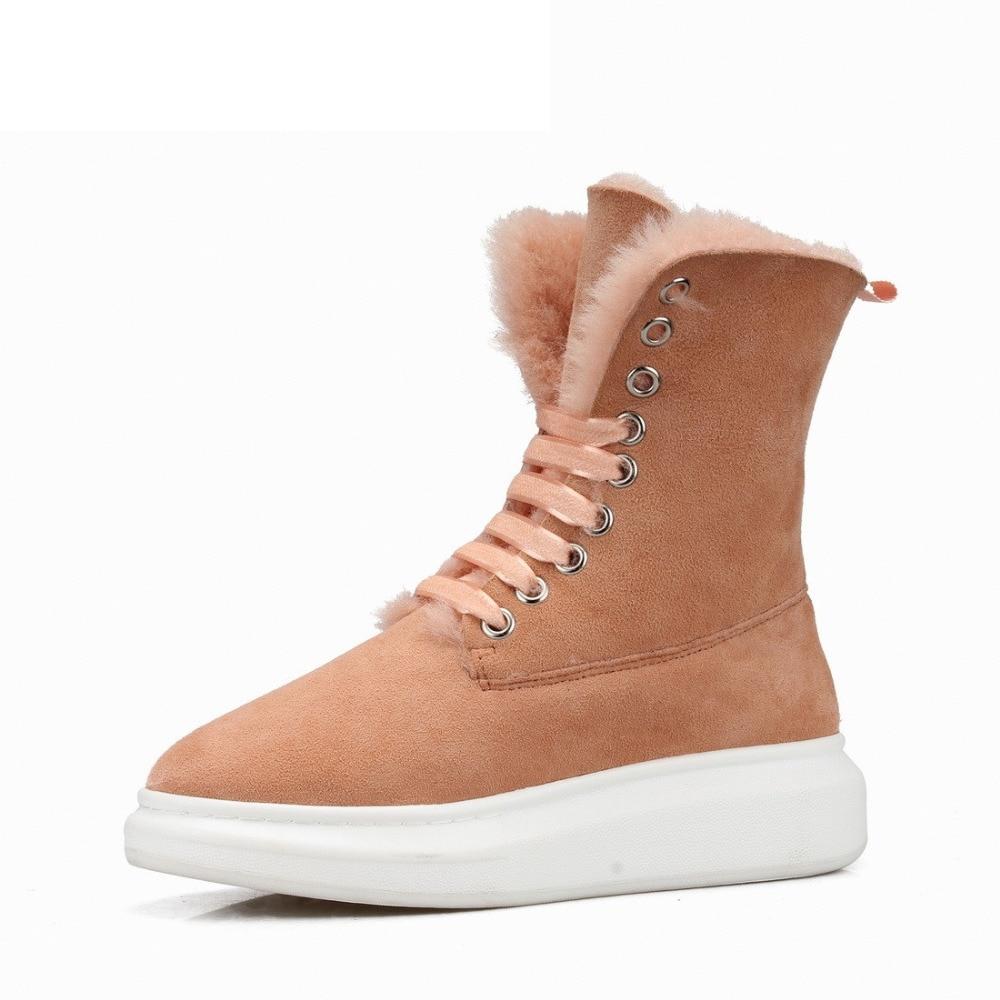 Women Snow Boots Light Khaki (8)