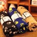 Прекрасные Животные Коврик Дизайн Paw Print Мягкий Теплый Флис Животное Одеяло Собака Кошка Мат Щенок Кровать Диван