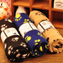 Lovely Pets Mat Design Paw Print Soft Warm Fleece Pet Blanket Dog Cat Mat Puppy Bed Sofa