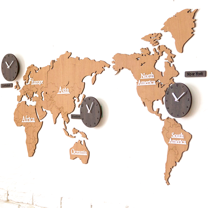 large office wall clocks. aliexpresscom buy pinjeas mandela world map clock large office wall decor modern creative living room clocks wooden quartz from reliable