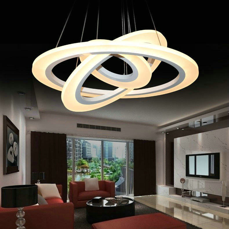 diy room lighting. DIY 3 Rings Big LED Pendant Chandelier Lighting Fixture For Living Room Dinning Lampada De Techo Lustre Free Shipping-in Lights From Diy