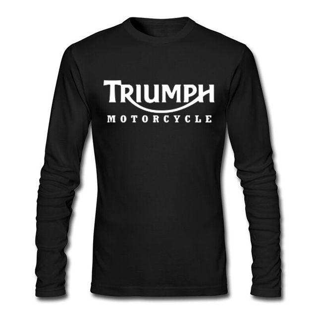 size 40 93775 2c64f US $26.99 |TRIUMPH MOTORRAD herren Langarm T shirt Brand New Fashion Lange  Sleeve Top T stück Beiläufige 100% Baumwolle T shirt Für Männer Größe S 3XL  ...