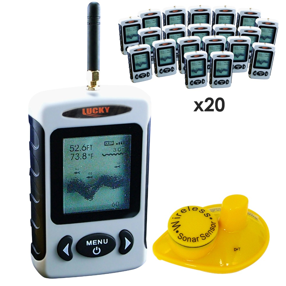 20 pieces x LUCKY Professional Wireless 2.8 Inch Display Fish Finder Fishfinder with Sonar Sensor Sea Bed Contour,lot of 20