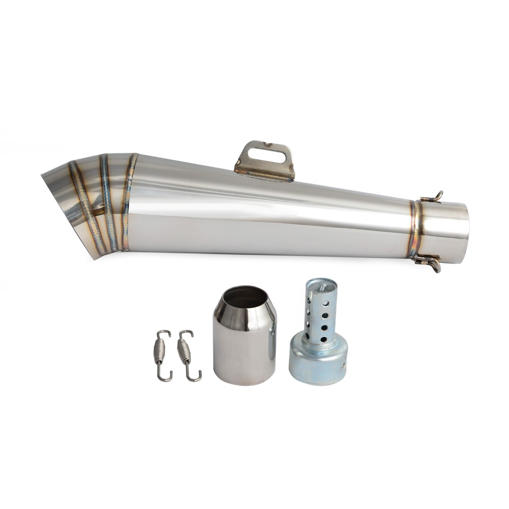 Stainelss Steel GP Exhaust Muffler Pipe Motorcycle Street Bike 38-51MM Motocross Supermoto Street Bike Scooter ATV GY6