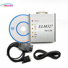 ELM327 USB ELM 327 Metal Case Elm 327 USB Metal Alumínio V1.5/V1.5a Suporte Todos Os OBD2 OBDII Protocolos Auto scanner de Diagnóstico do carro