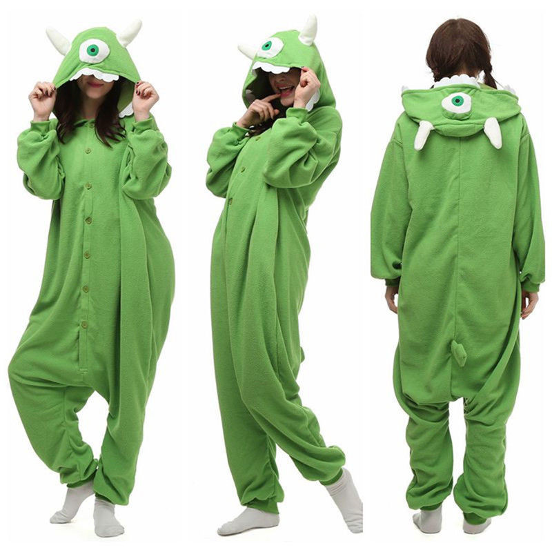 Anime Cartoon Kigurumi Pajamas Anime Cosplay Costumes Jumpsuit Monsters Inc. Sleepwear Halloween Cosplay Pajamas Christmas Gift