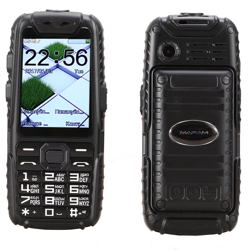 Shockproof Dustproof anti slip rubber dual sim flashlight big key <font><b>power</b></font> bank long standby army outdoor rugged mobile Phone P497