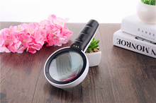 лучшая цена AIBOULLY DT7666 Handheld Magnifier 30X Times Lighted Magnifier LED Light Magnifier Repair Tool Watch Repair Outdoor Exploration
