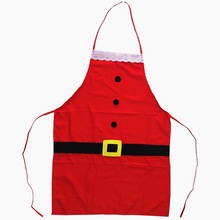 1pc Lace Christmas Apron Santa Claus Belt Christmas Pinafore Dining Table Decor New Year's Home Party Supplies XMAS Apron цена