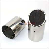 Accessories 2PCS FIT FOR AUDI Q7 2007~2013 EXHAUST MUFFLER TIP PIPE TAILPIPE FINISHER END TRIM STAINLESS STEEL