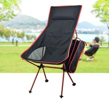 Portable Moon Chair Folding extended fishing camping seat with pillow outdoor hiking garden chair BBQ Ultralight Home Furniture thicken cotton large folding saucer moon chair round seat living room furniture