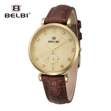 Belbi fashion Brand watch women's watches ladies watches top brand luxury wristwatches women montre femme leather quartz watch