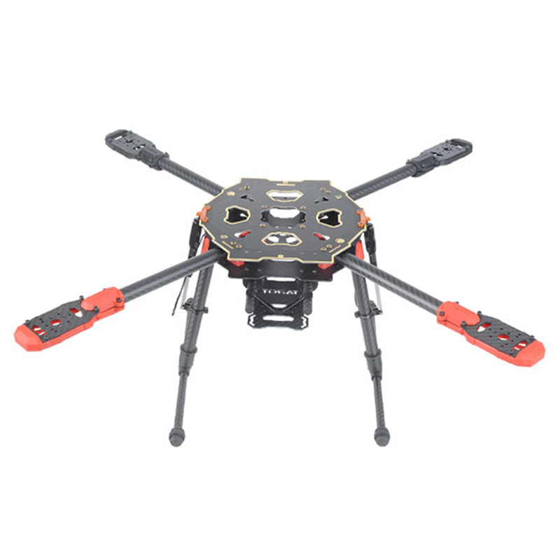 Tarot 650 Sport Quadcopter Cadre Quatre Axe Rack CF PCB Center Plaque avec Électrique Pliant Landing Gear Quadcopter FPV TL65S01