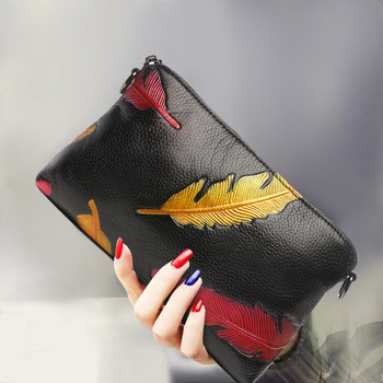 Modern Clutch Bag Soft Genuine Leather Cow Leather Clutches Purse Small Flap / Women Party Shoulder Crossbody Bags Female Gifts