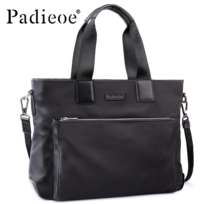Padieoe New Arrival Handbag Men's Waterproof Briefcase Durable Nylon Laptop Shoulder Bag High Quality Tote Bags For Male women handbag shoulder bag messenger bag casual colorful canvas crossbody bags for girl student waterproof nylon laptop tote