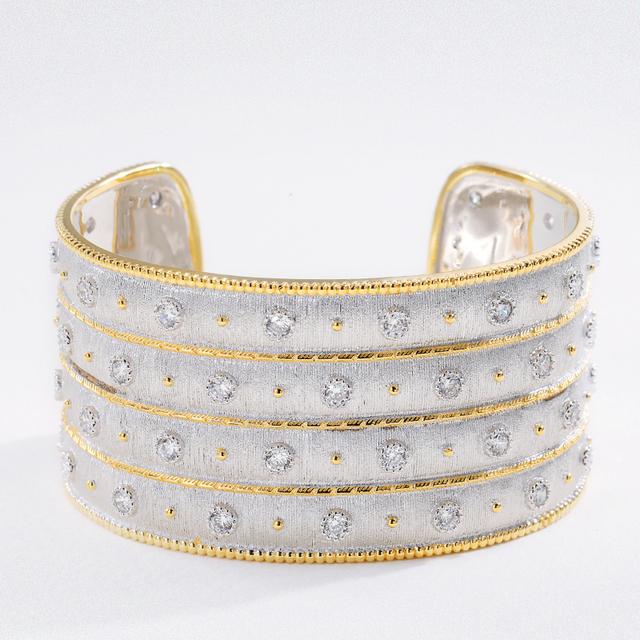 Silver Bars European Court Style Zircon Bracelet