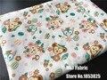 100*143 см Даффи ShellieMay Медведь Gelatoni кошка Хлопчатобумажной Ткани Для Швейных Жир Квартал Лоскутное Лоскутная Кукла Детские Постельные Принадлежности лоскутное