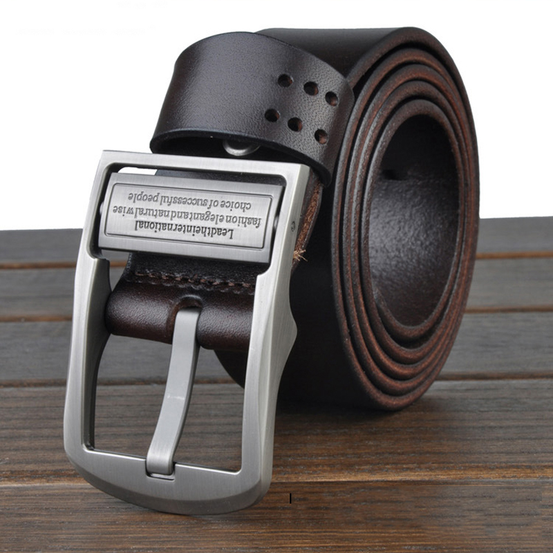 Men Belt genuine leather men belt luxury business belt 125cm feragamo belt ceinture homme accpet drop shipping