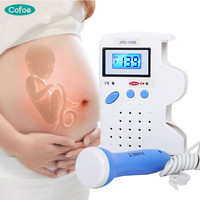 Cofoe Fetal Doppler Portable Household Pregnant Women Prenatal Baby Ultrasound Heartbeat Sound Monitor No Radiation Stethoscope