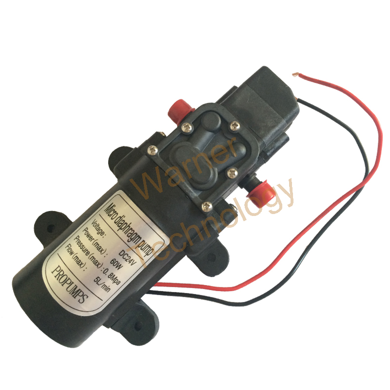 ФОТО 3pcs Small Diaphragm pump 0142YA 24V 60W Micro Self-Priming pump Spray pump 0.8MPa 5L/ Min, Max Head 60M For Water washing