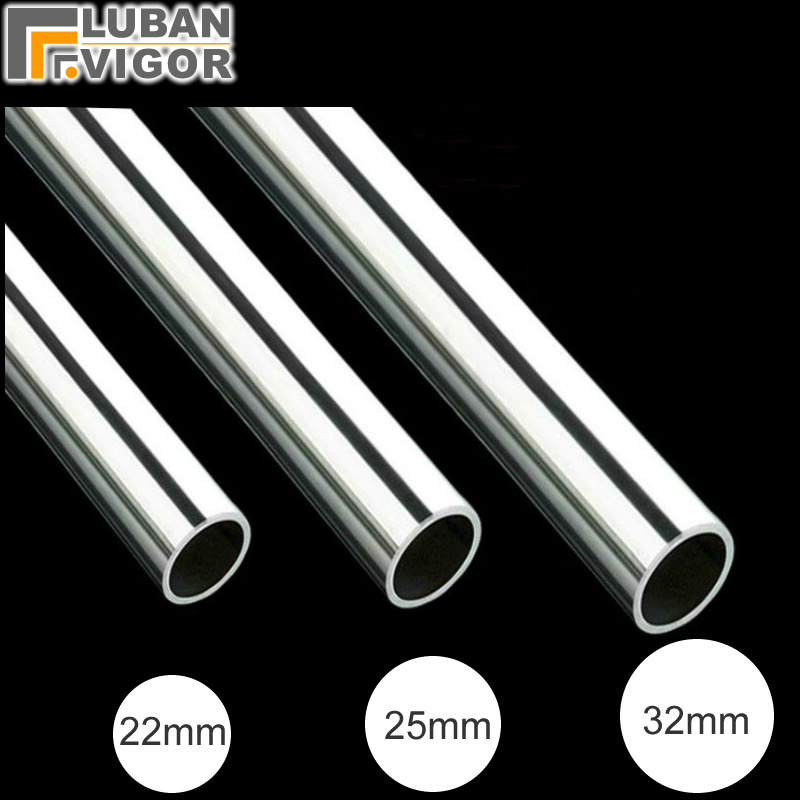 Stainless Steel Straight Tube/pipe,22/25/32mm,Mirror Finish,Wardrobe Clothes Rail Clothes Rod Tower Hanger,DIY Furniture Parts