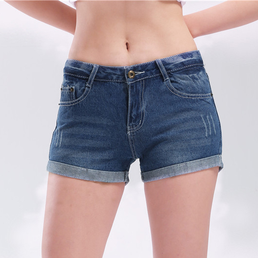 Plus Size Casual Women Denim Shorts Summer Style Beach Sexy Slim ...