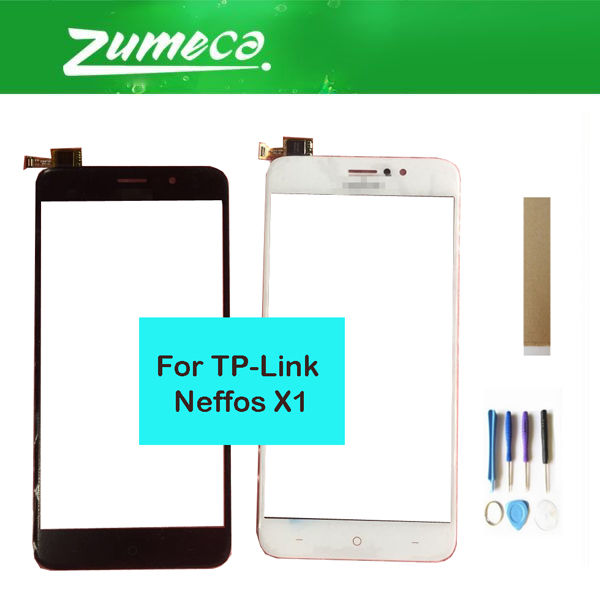 For TP-Link Neffos X1 Touch Screen Digitizer Touch Panel Lens Glass Replacement Part Black White Color With Tools Tape
