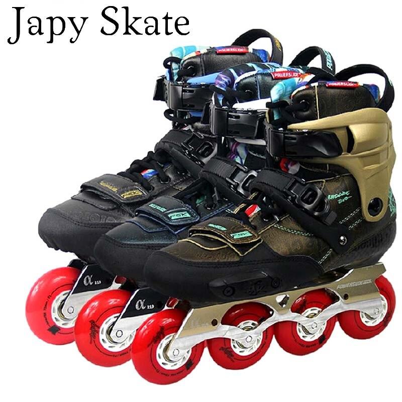 Prix pour Jus japy Skate 2014 Powerslide EVO Adulte Professionnel Patins À Roues Alignées Slalom Roller Skating Chaussures Coulissante Livraison De Patinage Chaussures Patines