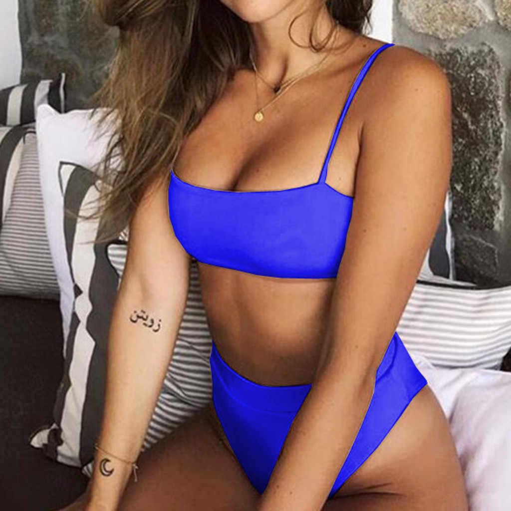 Seksi Bikini Set Wanita Baju Renang 2019 Push Up Padded Pita Pengikat Rambut Brasil Beachwear Biquini Baju Renang Wanita Pakaian Renang Baju Renang