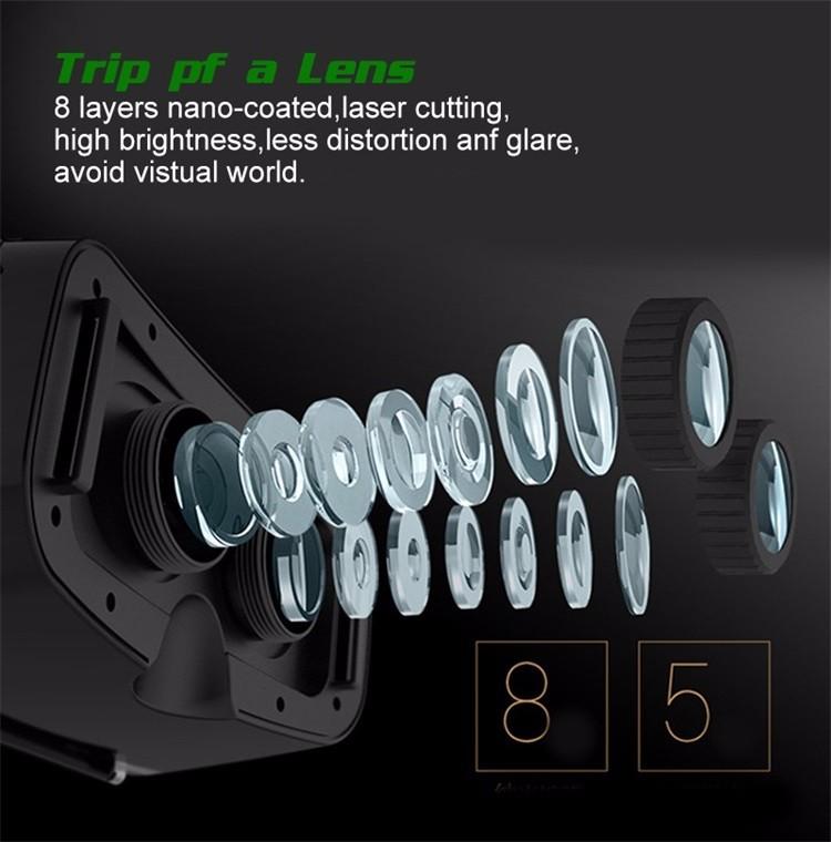 18 Original Shinecon VR Pro Virtual Reality 3D Glasses Headset VRBOX Head Mount Google Cardboard Helmet For Smartphone 4-6inch 16