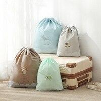 Kordelzug Tasche Mit String Verschluss Wasserdichte Tasche Für Schuhe Unterwäsche Kleidung Verpackung Reise Lagerung Tasche Kleidung Lagerung
